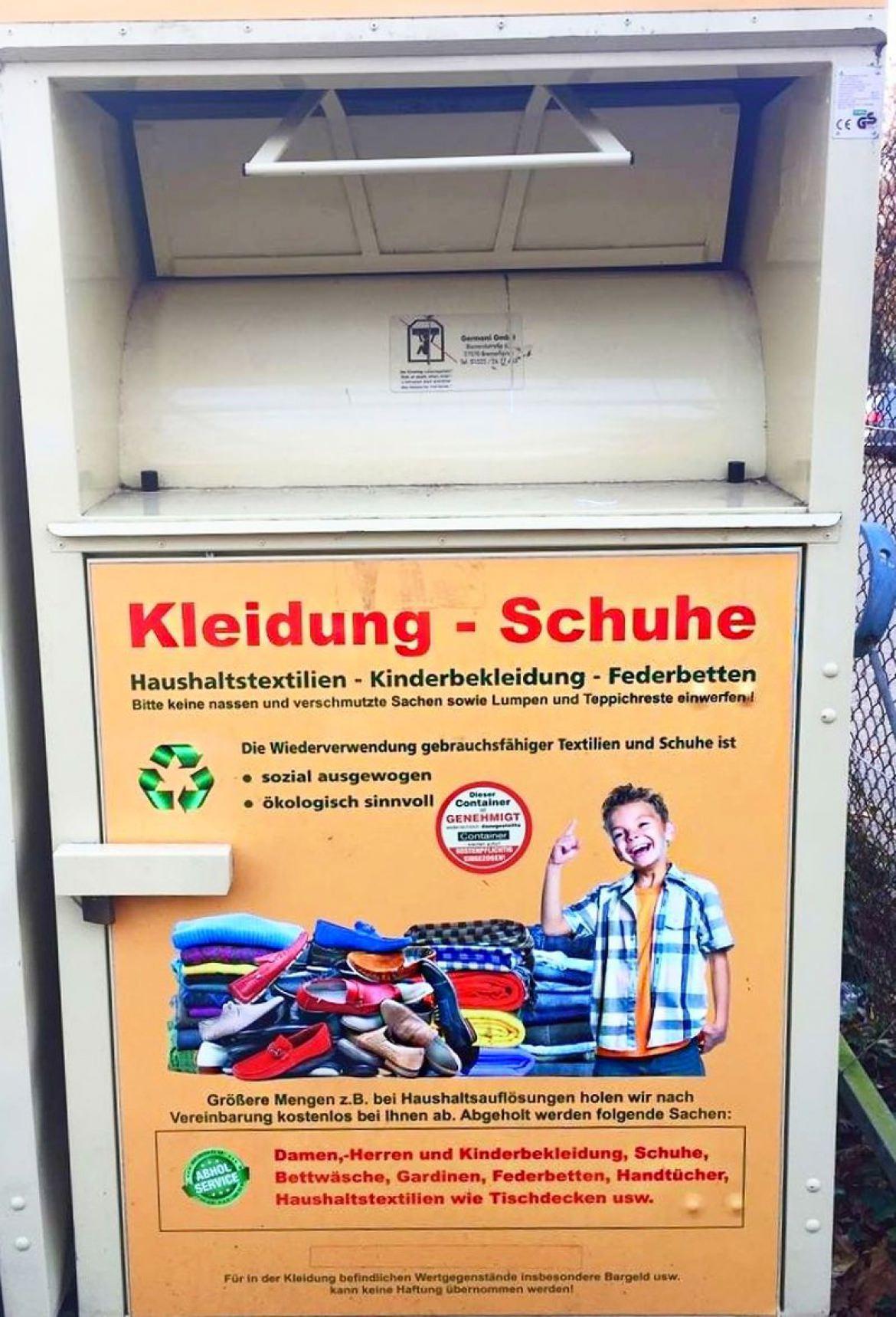 2f8a160036e7fa Kleider-   Schuhe-Sammlung - Gymnasium Langenhagen